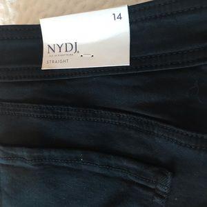 NYDJ Jeans - NYDJ black straight ankle with cuff 14 NWT